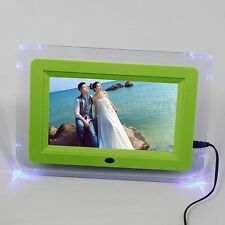 7 '' LCD Digital LED Light Photos Picture Movies Frame MP3 MP4 Player Alarm Gift