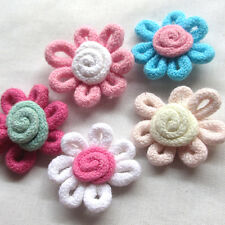 10/20/30/150pcs Cotton Spring Rope Sunflower Appliques/Craft​-Mix A0462