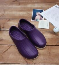 Non-Slip Chef Shoes Eva Clogs Water Safety Hospital Kitchen Comfort Purple Woman