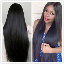 Women Glueless Full Lace Wigs Straight Brazilian 100 % Human Hair Lace Front Wig
