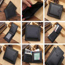 Hot Men Bifold Business Cow Leather Wallet Money Card Holder Coin Bag Purse Gift