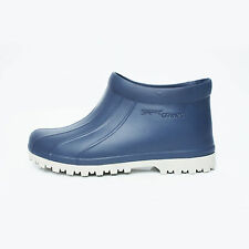 Mens Chef Shoes Ankle Boots Clogs Water Safety Kitchen Non-Slip Comfort Navy