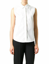Maison Martin Margiela MM6 Women's White Button Down Blouse Shirt 2XS XS S M L
