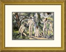 Global Gallery 'Bathers' by Paul Cezanne Framed Painting Print