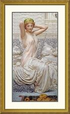 Global Gallery 'Silver' by Albert Joseph Moore Framed Painting Print