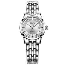 BUREI Automatic Mechanical Watch Women Steel Case Date Luminous Hands Wristwatch