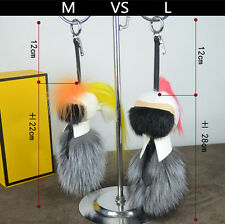 """Original"" Karl Lafayette Mink Fur Monster Bag bugs Fur charms Keyring Keychain"
