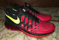 NEW Mens 10.5 NIKE Air Max Fingertrap Gym Red Black Volt Running Training Shoes