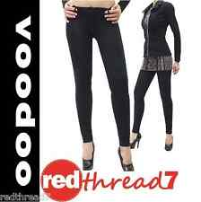 Voodoo New Sexy Womens Ladies Black Jeggings Tight Skinny Pants Cotton Size 6-16