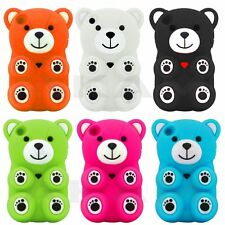 Cute Teddy Bear Soft Silicone Rubber Back Case Cover For iPod Touch 4 4th Gen