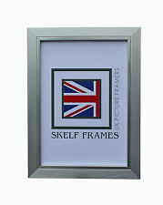 30mm BRUSHED SILVER PICTURE PHOTO POSTER FRAME with GLASS
