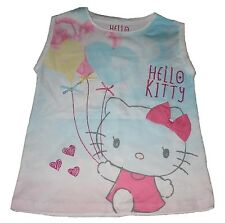 Girls T-Shirt Top Hello Kitty 5-11 Years Old
