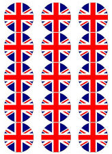 UNION JACK NATIONAL FLAG EDIBLE WAFER PAPER TOPPERS CUPCAKE CAKE MUFFIN ETC