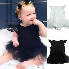 Summer Newborn Kids Baby Girls Lace Romper Jumpsuit Bodysuit Tutu Dress Outfit
