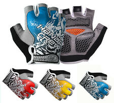Cool Men Cycling Fitness Bicycle GEL Shockproof Bike Sports Half Finger Glove  A