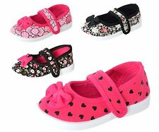 New Baby Toddler Girls Canvas Mary Jane Shoes Bow Loafers Sneakers Floral Flats