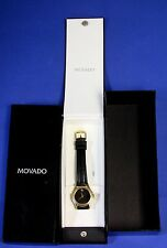 Women's Movado Museum Classic Black Dial Leather Band Watch with Box 87-E4-0823
