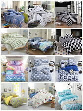 Warm Duvet Cover with Pillow Case Quilt Cover Bedding Set Single Double King