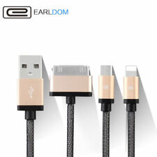 3 in 1 USB Charger Cable Adapter For iPhone 4 5 6S + Samsung 8 Pin 30 Pin Micro
