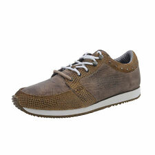 Just Cavalli Brown Leather Fashion Sneakers Shoes Sz 7.5 8.5 9 10 10.5 12
