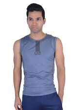 "Emporio Armani EA7 ""Tech M"" Gray Stretch Athletic Tank Top Size S M L XL"