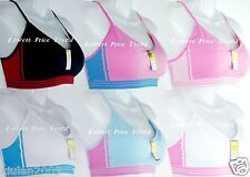 LOT OF 6 Sports Bras,ONE SIZE(32A34A36A38A32B34B36B38B34C36C38C) L7113S