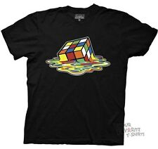 Rubiks Cube Melting Cube Big Bang Theory Sheldon Licensed Adult Shirt S-XXL