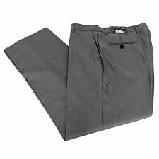 NAUTICA Mens Dress Pants Flat Front Silver Grey NEW