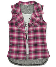 """Beautees Big Girls' """"Limited Edition"""" Layer Top with Necklace (Sizes 7 - 16)"""