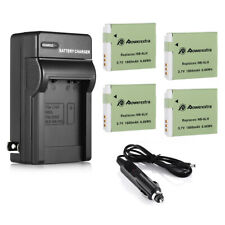 NB-6LH NB-6L Battery  Charger For Canon Powershot SD4000 SX500 IS S120 SX510