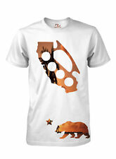 California Tee Cali Bear State Map Brass Knuckles Sunset T Shirt Men's T-Shirt