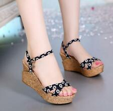 New Stylish women's sandals slope heel heavy-bottomed platform high heels shoes
