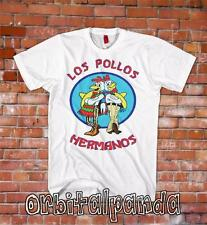 White T-Shirt with LOS POLLOS HERMANOS logo - Breaking Bad - heisenberg