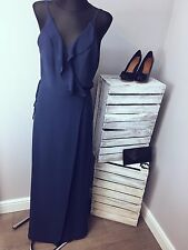 ASOS - Jarlo Petite Soft Plunge Neck Wrap Strappy Maxi Dress RRP £80 (AS-43/25)