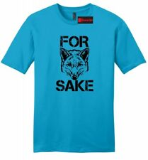 For Fox Sake Funny Soft Mens T Shirt WTF Adult Humor Rude Cute Animal Tee Z2