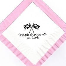 RACING FLAGS 50 Personalized printed LUNCHEON DINNER napkins