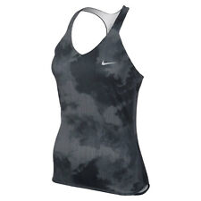 New Nike Womens Advantage Printed Tennis Tank Black 598233-100