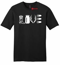 Love Hunting Mens T Shirt Country Redneck Hunter Cowboy Boots Antlers Tee Z2