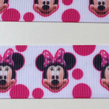 "1/2/3/5 yards Minnie Mouse Grosgrain Ribbon  7/8"" 22mm Minnie Mouse Ribbon"