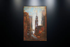 Metal Wall Art Sculpture Home Decor 'Empire State Building' Painting Print