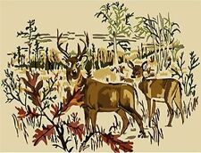 CANVAS TAPESTRY NEEDLEPOINT PRINTED - Two Deers