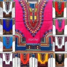 African Dashiki Shirt XL Unisex men women Poncho Hippie Caftan Tribal Beautiful