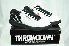 NIB THROWDOWN by AFFLICTION blk/wht MMA ON TOP REMIX shoes TD-0011 sizes: 9-13
