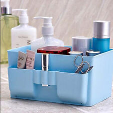 Stationery Cosmetic Organizer Storage Box Plastic Makeup DIY Desk Case Decor