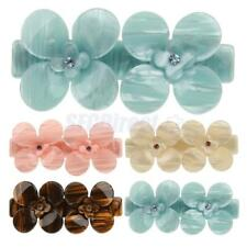 Fashion Women Crystal Acrylic Flower Barrette Hair Clip Clamp Hair Accessories