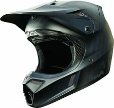 NEW FOX RACING V3 MX DIRT BIKE MOTOCROSS HELMET MATTE BLACK ALL SIZES