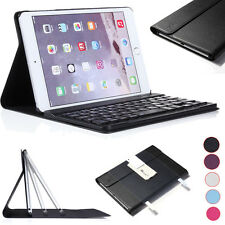 Luxury PU Leather Smart Case With Bluetooth Keyboard For Apple iPad Mini 4 3 2