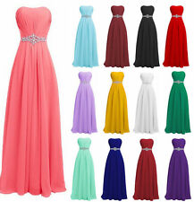 New Formal Long Chiffon Evening Ball Gown Party Prom Bridesmaid Wedding Dresses