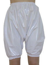 PVC Bloomers Sissy Pants Knickers Adult Baby Panties Plastic Shiny White