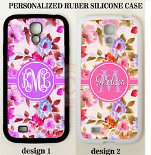 SHABBY CHIC VINTAGE ROSES MONOGRAM PHONE Case For Samsung Galaxy S8 S7 S6 NOTE 5